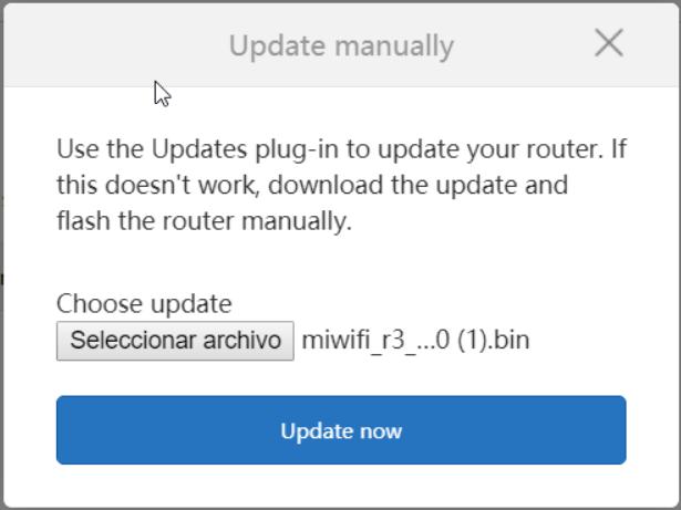 Xiaomi Mi Router 3 - Update Manually