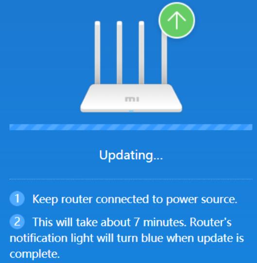 Xiaomi Mi Router 3 - Updating